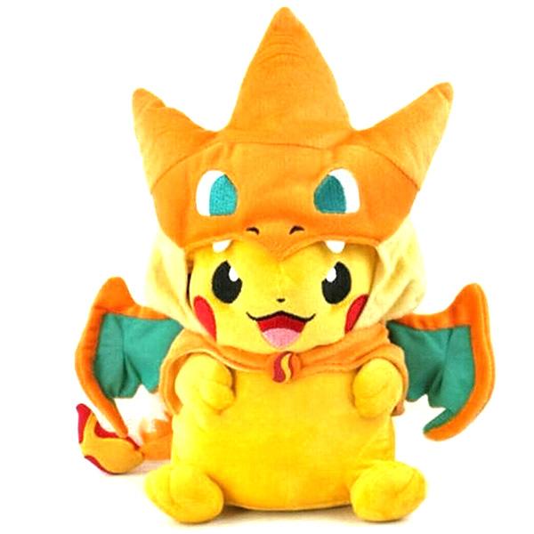 Λούτρινο Κουκλάκι Pikachu με καπέλο Charizard