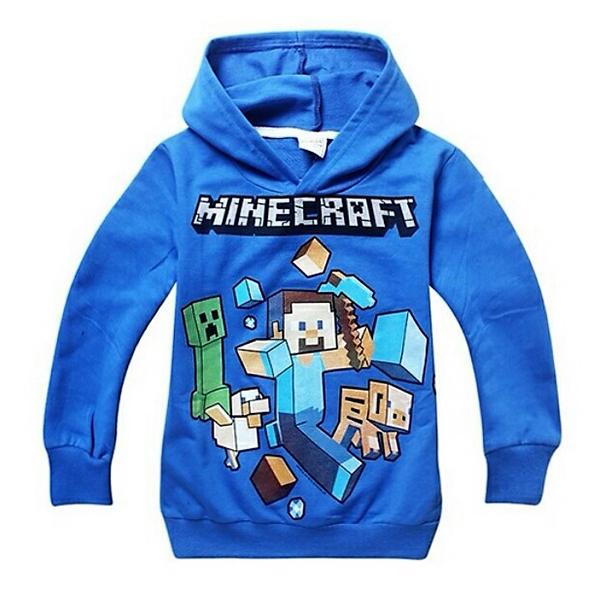 Φούτερ Μπλε - Minecraft