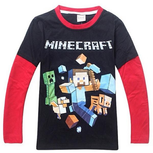 Μπλούζα Μαύρη / Κόκκινη - Minecraft