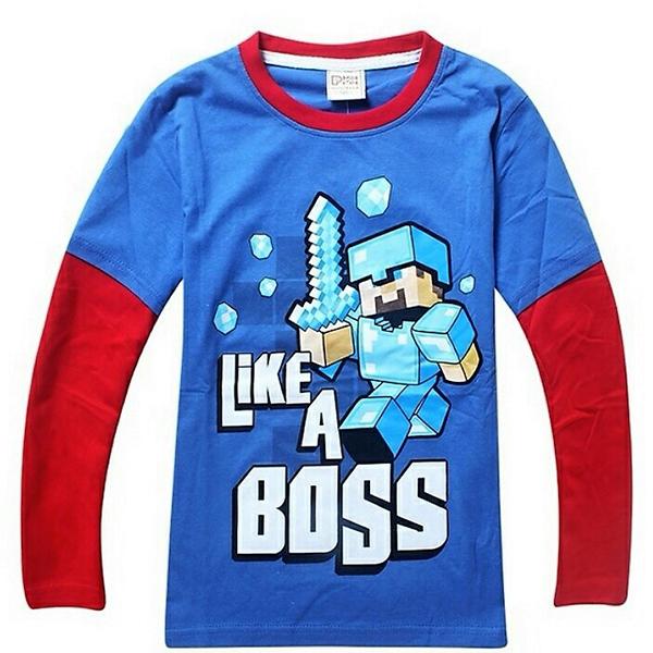 Μπλούζα Μπλέ / Κόκκινη - Minecraft